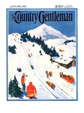 """Winter Sports Scene,"" Country Gentleman Cover, January 1, 1932 Giclee Print by Dudley Gloyne Summers"