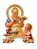 """Trimming the Pie,""November 23, 1935 Giclee Print by J.C. Leyendecker"