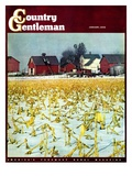 """Winter Cornfield,"" Country Gentleman Cover, January 1, 1946 Giclee Print by Thomas Benner"