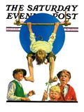 """Trapeze Tickle,"" Saturday Evening Post Cover, August 31, 1929 Giclee Print by J.F. Kernan"