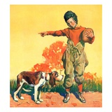 """Go Home, Boy!,""November 1, 1928 Giclee Print by William Meade Prince"