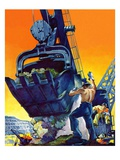 """Steam Shovel,""September 17, 1938 Giclee Print by Ski Weld"