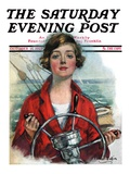 """Woman Sailor,"" Saturday Evening Post Cover, October 15, 1927 Giclee Print by William Haskell Coffin"