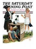 &quot;Bozo, the Talking Dog,&quot; Saturday Evening Post Cover, September 1, 1928 Reproduction proc&#233;d&#233; gicl&#233;e par Alan Foster