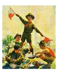 """Boy Scouts,""September 1, 1930 Giclee Print by William Meade Prince"