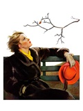 """""""Fall in the Park,""""December 3, 1938 Giclee Print by Neysa Mcmein"""