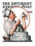 """Wedding Cake,"" Saturday Evening Post Cover, May 30, 1925 Giclee Print by Edmund Davenport"