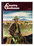 """Cattleman,"" Country Gentleman Cover, June 1, 1946 Giclee Print by Peter Hurd"