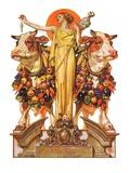 """""""Ceres and the Harvest,""""November 23, 1929 Reproduction procédé giclée par J.C. Leyendecker"""