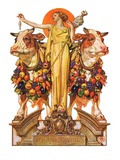 """Ceres and the Harvest,""November 23, 1929 Giclee Print by Joseph Christian Leyendecker"