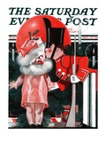 """Kewpie Doll Kiss,"" Saturday Evening Post Cover, December 27, 1924 Giclee Print by Elbert Mcgran Jackson"