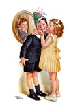 """Birthday Kiss,""March 5, 1938 Giclee Print by Frances Tipton Hunter"