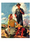 """Farming Family,""April 1, 1943 Giclee Print by George Rapp"