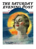 """Misty Harvest Moon,"" Saturday Evening Post Cover, November 10, 1928 Giclee Print by William Haskell Coffin"