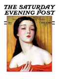 """Exotic Woman,"" Saturday Evening Post Cover, August 12, 1933 Giclee Print by Wladyslaw Benda"