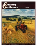 """Wheat Harvest,"" Country Gentleman Cover, July 1, 1945 Giclee Print by F.P. Sherry"