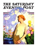 """Shadow Lover,"" Saturday Evening Post Cover, April 13, 1929 Giclee Print by James C. McKell"