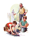 """Cleaning Up Graffiti,""September 24, 1938 Giclee Print by Frances Tipton Hunter"