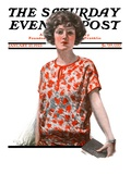 """Woman in Floral Print,"" Saturday Evening Post Cover, January 27, 1923 Giclee Print by Charles A. MacLellan"