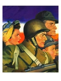 """We're All Important Now,""January 1, 1943 Giclee Print by Andrew Loomis"