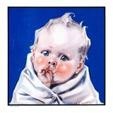 """Baby Sucking Thumb,""January 26, 1924 Giclee Print by Neil Hott"