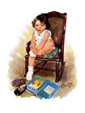 """Toddler in Rocker,""November 12, 1932 Giclee Print by Ellen Pyle"
