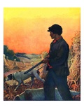 """Hunting with Dogs,""November 1, 1925 Giclee Print by Zack Hogg"