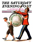 &quot;Peacedale Corners Band,&quot; Saturday Evening Post Cover, October 20, 1928 Giclee Print by Alan Foster