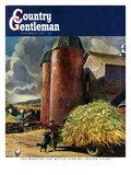 """Corn Silos,"" Country Gentleman Cover, September 1, 1950 Giclee Print by Peter Helck"