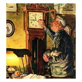 """""""Father and Time,""""March 1, 1946 Giclee Print by W.C. Griffith"""