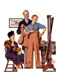 """""""First Long Suit,""""September 18, 1937 Giclee Print by J.C. Leyendecker"""