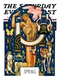 """Spring 1929,"" Saturday Evening Post Cover, March 30, 1929 Giclee Print by J.C. Leyendecker"
