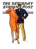 """Dapper Couple,"" Saturday Evening Post Cover, July 27, 1929 Giclee Print by McClelland Barclay"