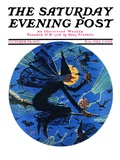 """Witches Night Out,"" Saturday Evening Post Cover, October 29, 1927 Giclee Print by Eugene Iverd"