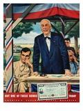 """Buy War Bonds,""July 1, 1944 Giclee Print by W.W. Calvert"