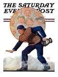 &quot;Safe at the Plate,&quot; Saturday Evening Post Cover, September 29, 1928 Reproduction proc&#233;d&#233; gicl&#233;e par Alan Foster