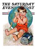 """Sea in the Shell,"" Saturday Evening Post Cover, August 6, 1927 Giclee Print by Ellen Pyle"