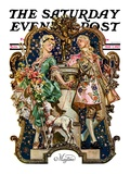 """Maytime,"" Saturday Evening Post Cover, May 7, 1927 Giclee Print by Joseph Christian Leyendecker"