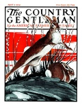 """Rabbits in Pussy Willows,"" Country Gentleman Cover, April 5, 1924 Giclee Print by Paul Bransom"