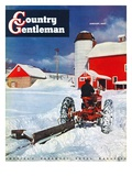 """Plowing Path to the Barn,"" Country Gentleman Cover, January 1, 1947 Giclee Print by J. Julius Fanta"