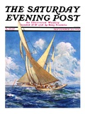"""America's Cup Race,"" Saturday Evening Post Cover, September 20, 1930 Giclee Print by Anton Otto Fischer"