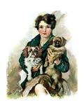 """""""Pugs in Lap,""""November 9, 1929 Giclee Print by Ellen Pyle"""