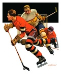 """Ice Hockey Match,""January 18, 1936 Giclee Print by Maurice Bower"