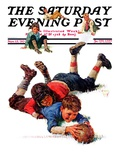 """Big Tackle,"" Saturday Evening Post Cover, November 15, 1930 Giclee Print by Eugene Iverd"