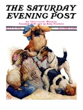 &quot;Digging Doggy,&quot; Saturday Evening Post Cover, July 31, 1926 Giclee Print by Robert L. Dickey