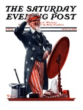&quot;New Hat for Uncle Sam,&quot; Saturday Evening Post Cover, May 12, 1923 Giclee Print by Elbert Mcgran Jackson