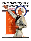 """American Hot Dogs,"" Saturday Evening Post Cover, May 14, 1927 Giclee Print by Elbert Mcgran Jackson"