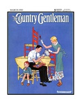"""Painting Dining Room Furniture,"" Country Gentleman Cover, March 1, 1933 Giclee Print by Martin Justice"