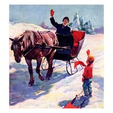 """'Happy New Year',""January 1, 1928 Giclee Print by William Meade Prince"