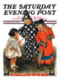 """Trick-Or-Treat,"" Saturday Evening Post Cover, October 25, 1930 Giclee Print by Ellen Pyle"